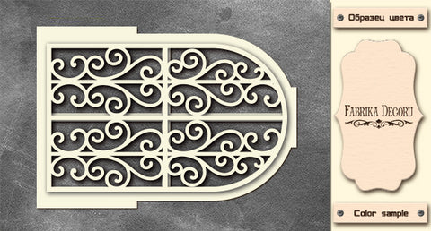 3D-CHIPBOARD FILIGREE DOOR