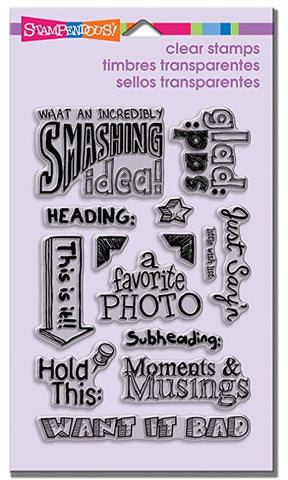 Stampendous Perfectly Clear Stamps Smashing Notes