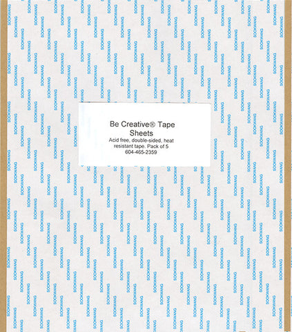 Be Creative Tape Sheets, 5 Pack
