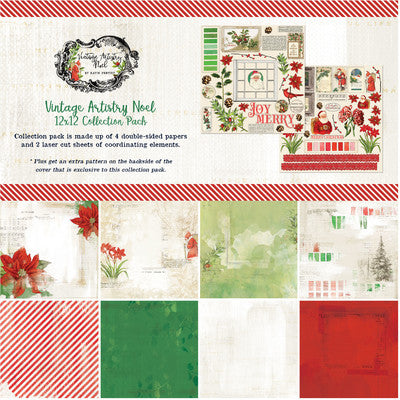 12X12 Collection Pack, Vintage Artistry Noel