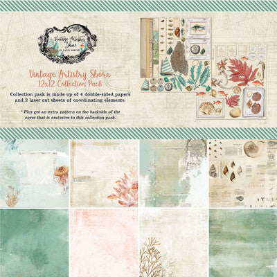 12X12 Collection Pack, Vintage Artistry Shore