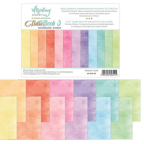 Mintay 6 X 8 BASIC BOOK - BACKGROUNDS - RAINBOW