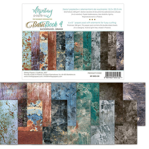 Mintay 6 X 8 BASIC BOOK - BACKGROUNDS - GRUNGE