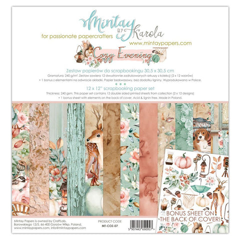 Mintay papers 12x12 Collection Cozy Evening