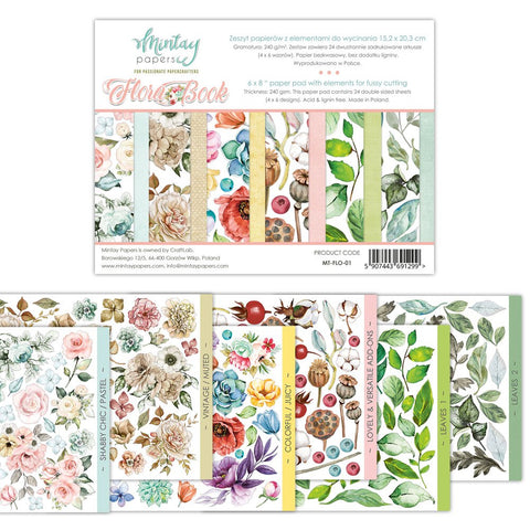 Mintay papers Book line Floral Book