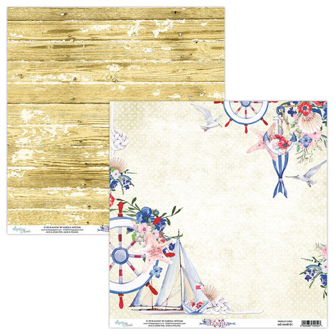 Mintay papers 12x12 Marina single sheet