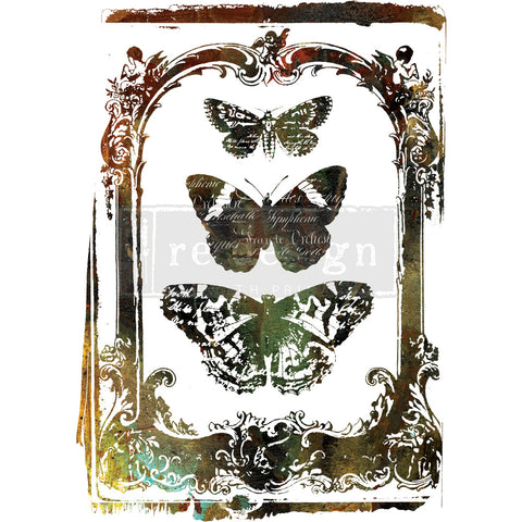 Prima Redesign Decor Transfer, Butterfly Frame