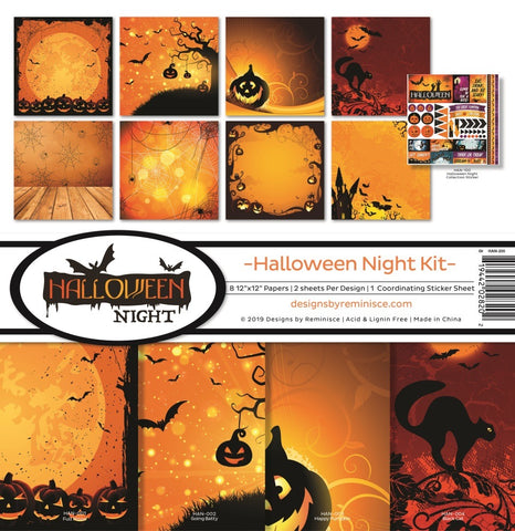 Reminisce 12X12 Collection Kit, Halloween Night