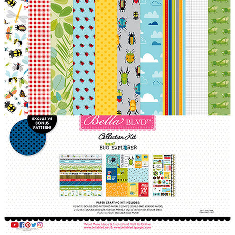 "Bella Blvd Collection Kit 12""X12"" - BUG EXPLORE"