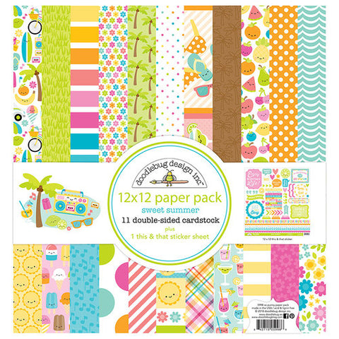 Doodlebug, SWEET SUMMER - 12 x 12 Paper Pack