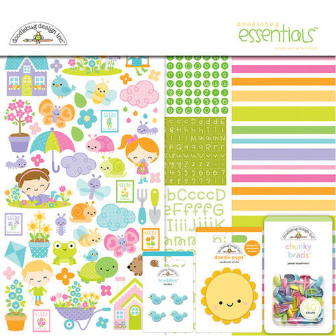 "Doodlebug , SIMPLY SPRING - Essentials Page Kit 12""X12"""