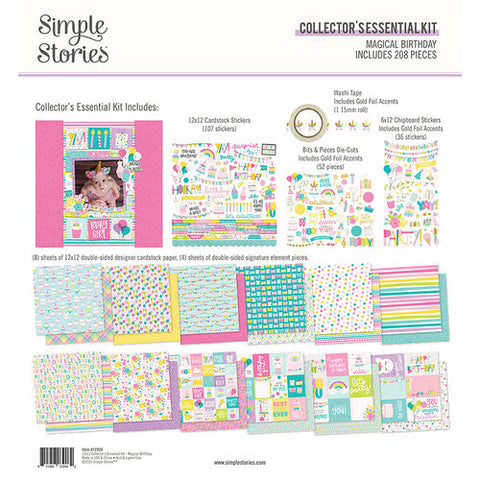 "Simple Stories MAGICAL BIRTDAY 12""X12"" Essential Kit"