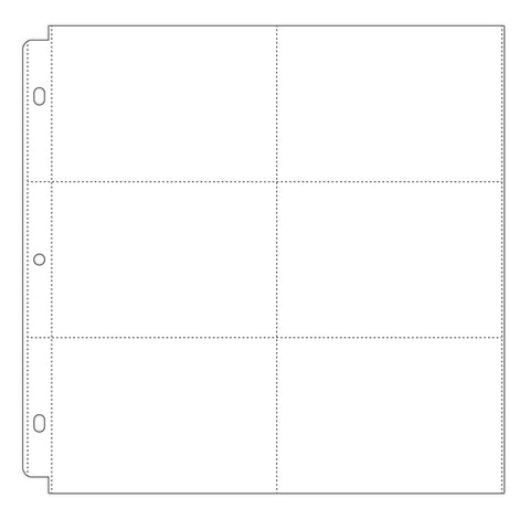 "Post Photo Sleeve Protectors 12""X12"" 10/Pkg (6) 4""X6"" Pockets"