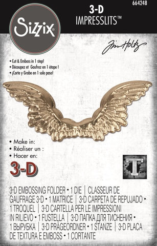 Sizzix Folder, 3-D Impresslits - Winged by Tim Holtz