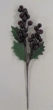 BERRY CLUSTER SPRAY 9inch SHINY x27 w/2 BUNCHES