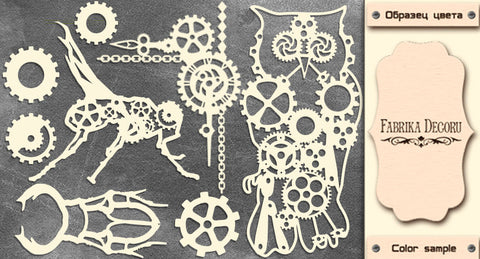 "Chipboard set ""GRUNGE&MECHANICS"" #483"