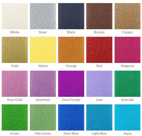 "ETC Papers Non-Shed Glitter Cardstock 12""X12"" VARIOUS COLORS"