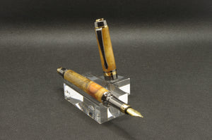 Norfolk Island Pine Fountain Pen - Gold and Gun Metal