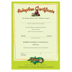 GIBSON'S ADOPTION CERTIFICATE