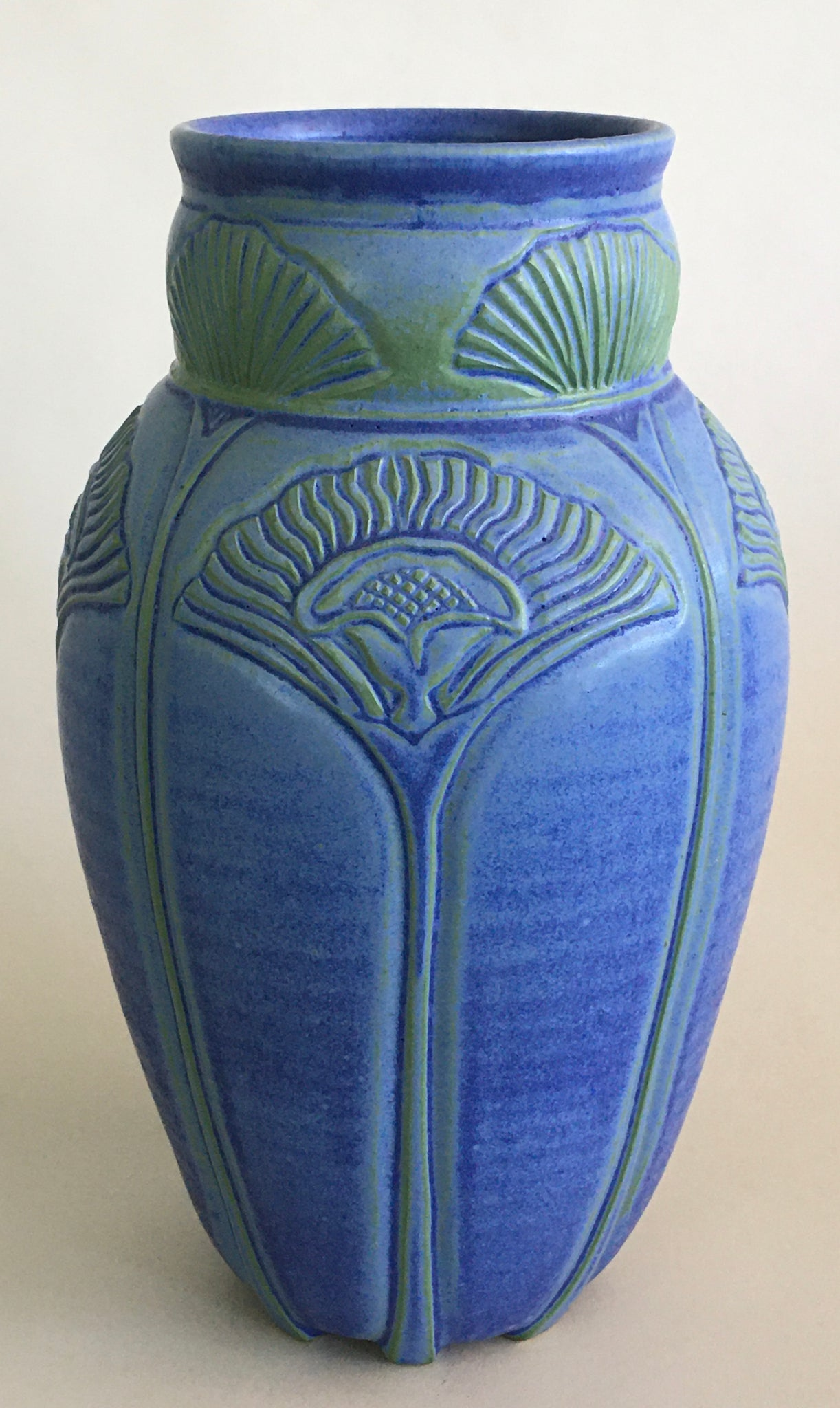Tall Blue Elegant Vase