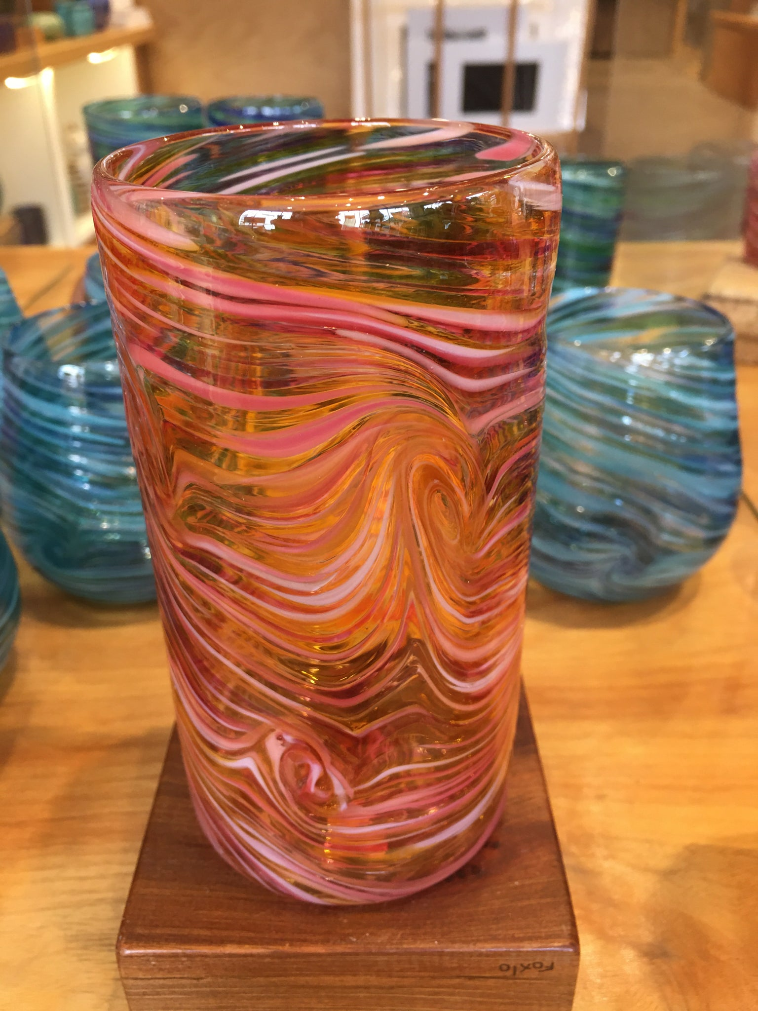Tall Tumbler / Highball Glass - Rose Gold