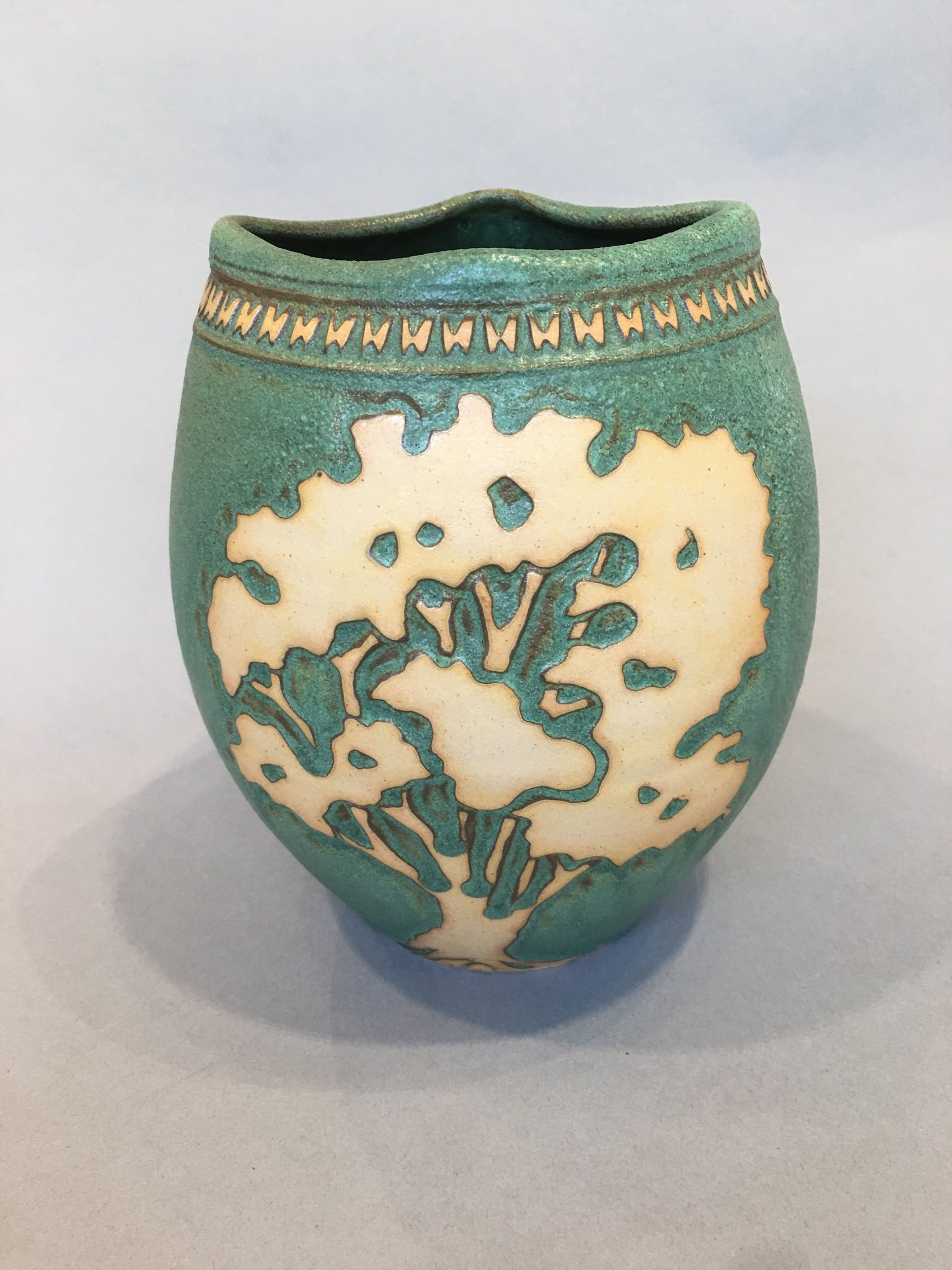 Tree Vase in Green