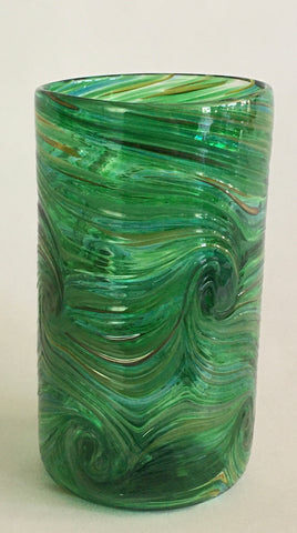 Tall Tumbler / Highball Glass - Emerald Green