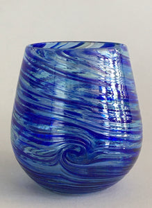 Stemless Wine Glass - Cobalt