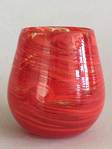 Stemless Wine Glass - Red