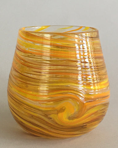 Stemless Wine Glass - Yellow Gold