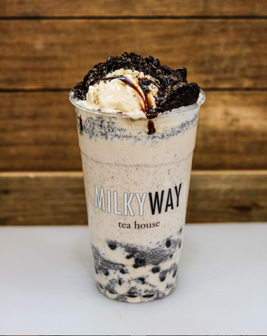 Cookies and Cream Boba Float from Milkyway Tea House