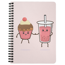 Load image into Gallery viewer, Cupcake & Boba Best Teas Notebook | Kawaii Boba Notebook