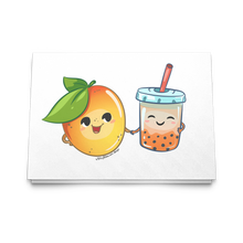 Load image into Gallery viewer, Mango Boba Tea Card | Boba Greeting Card | Pack of 10, 30 or 50 Boba Cards