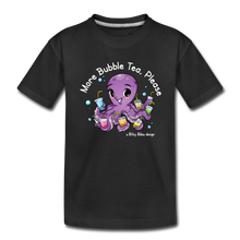 Load image into Gallery viewer, Toddler More Bubble Tea Shirt | Octopus Boba Tea T-Shirt - black