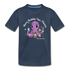 Load image into Gallery viewer, Toddler More Bubble Tea Shirt | Octopus Boba Tea T-Shirt - navy
