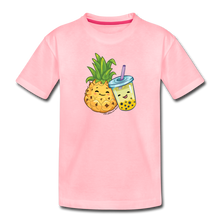 Load image into Gallery viewer, Toddler Pineapple & Boba Tea Shirt | Toddler Boba Shirt - pink