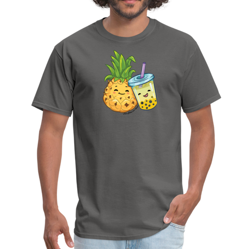 Pineapple & Boba Tea Unisex/Men's Classic T-Shirt - charcoal