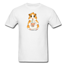Load image into Gallery viewer, Men's & Unisex Guinea Pig Drinking Boba Classic T-Shirt - white