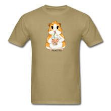 Load image into Gallery viewer, Men's & Unisex Guinea Pig Drinking Boba Classic T-Shirt - khaki