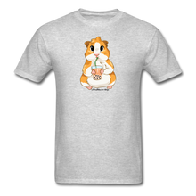 Load image into Gallery viewer, Men's & Unisex Guinea Pig Drinking Boba Classic T-Shirt - heather gray