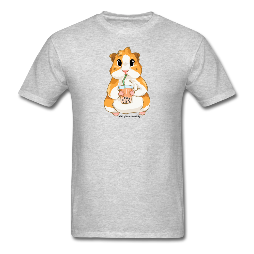 Men's & Unisex Guinea Pig Drinking Boba Classic T-Shirt - heather gray