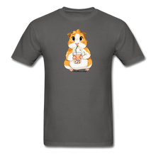Load image into Gallery viewer, Men's & Unisex Guinea Pig Drinking Boba Classic T-Shirt - charcoal