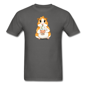 Men's & Unisex Guinea Pig Drinking Boba Classic T-Shirt - charcoal