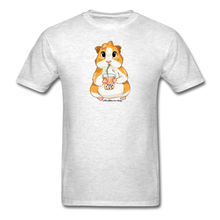 Load image into Gallery viewer, Men's & Unisex Guinea Pig Drinking Boba Classic T-Shirt - light heather gray