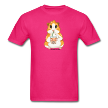 Load image into Gallery viewer, Men's & Unisex Guinea Pig Drinking Boba Classic T-Shirt - fuchsia