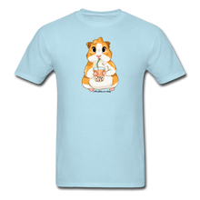 Load image into Gallery viewer, Men's & Unisex Guinea Pig Drinking Boba Classic T-Shirt - powder blue
