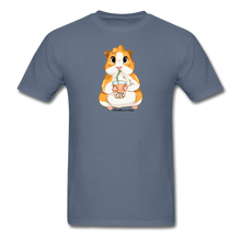 Load image into Gallery viewer, Men's & Unisex Guinea Pig Drinking Boba Classic T-Shirt - denim