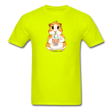 Load image into Gallery viewer, Men's & Unisex Guinea Pig Drinking Boba Classic T-Shirt - safety green