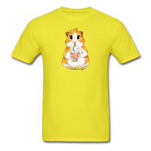 Load image into Gallery viewer, Men's & Unisex Guinea Pig Drinking Boba Classic T-Shirt - yellow