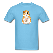Load image into Gallery viewer, Men's & Unisex Guinea Pig Drinking Boba Classic T-Shirt - aquatic blue